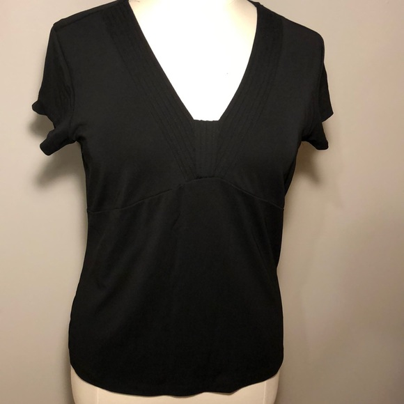 Talbots Tops - Black v-neck, short-sleeved top